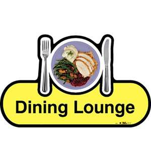 Dining Lounge Sign inYellow