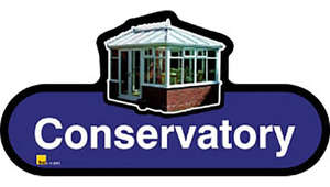 Conservatory Sign inBlue