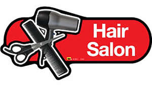 Hair Salon Sign in Red