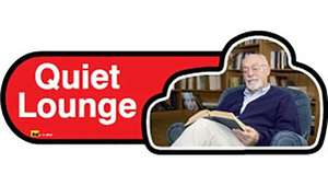 Quiet Lounge Sign inRed