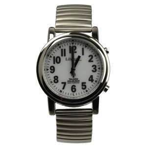 Front of watch with expanding bracelet