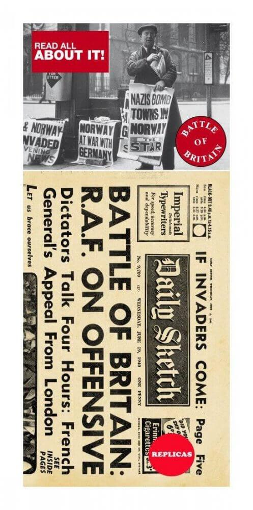 Battle of Britain Replica Newspaper