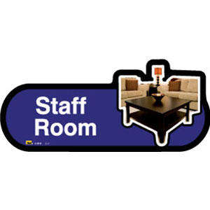 Staff Room Sign inBlue