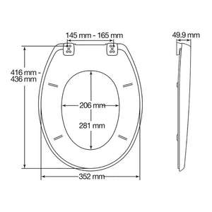 Toilet seat dimensions