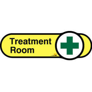 Treatment Room Sign inYellow