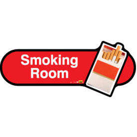 Smoking Room Sign inRed