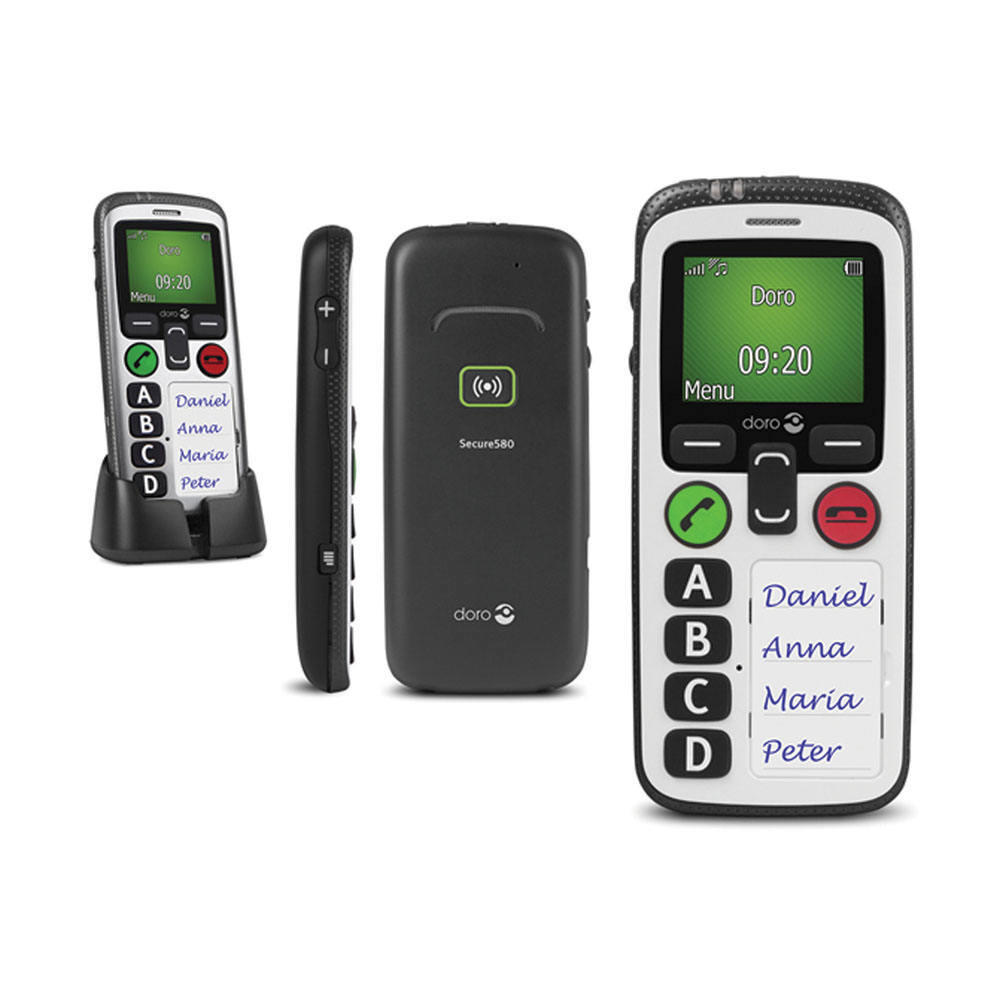 Doro Secure 580 Mobile Phone with IUP - SIM Free