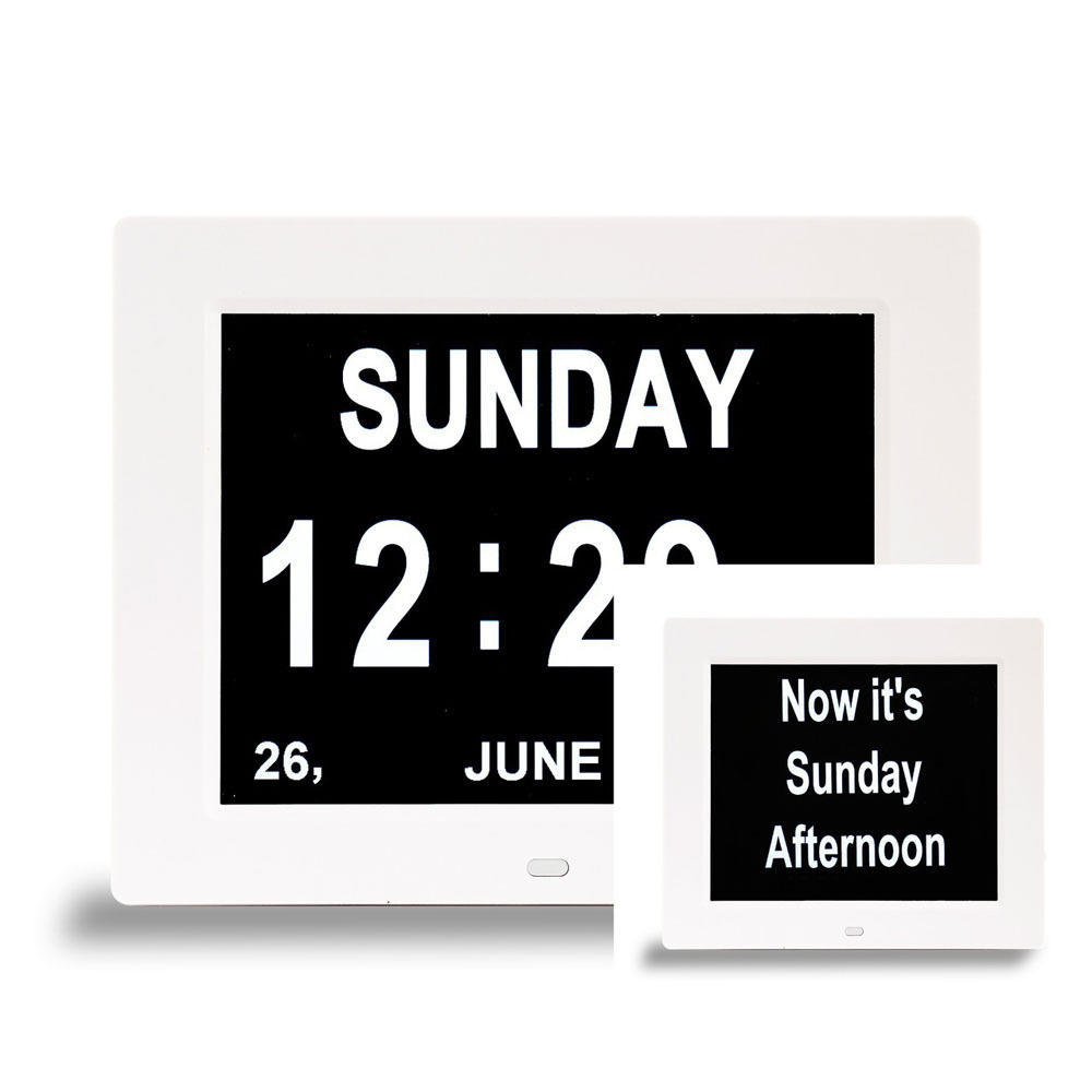Dual Display 2-in-1 Calendar & Day Clock