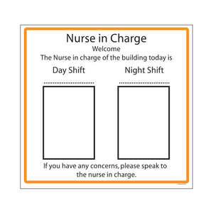 Nurse in Charge Board