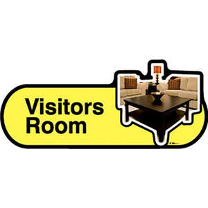 Visitors Room Sign inYellow