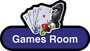 Games Room Sign inBlue