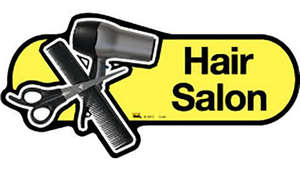 Hair Salon Sign in Yellow