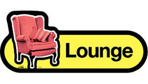 Lounge Sign in Yellow