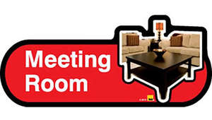 Meeting Room Sign inRed