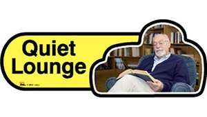Quiet Lounge Sign inYellow