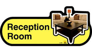 Reception Room Sign inYellow