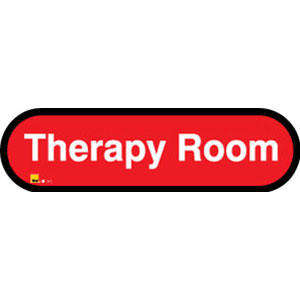 Therapy Room Sign inRed