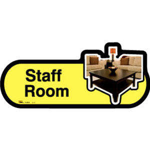 Staff Room Sign inYellow