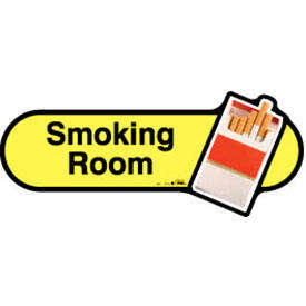 Smoking Room Sign inYellow