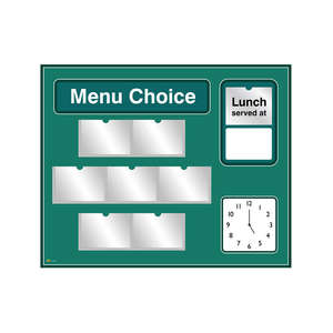 Pictorial Menu Board for Care Homes & NHS in Green