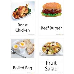 Menu Cards - Pack of 60