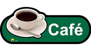 Cafe Sign in Green