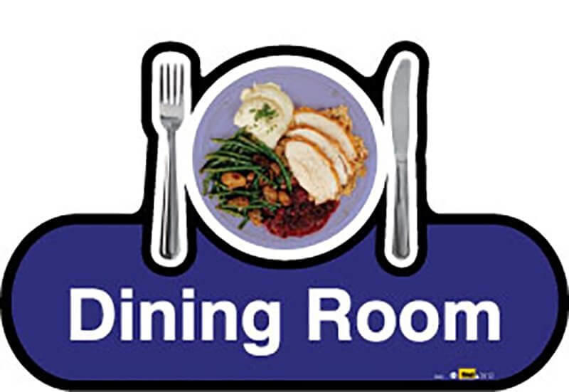 Dining Room Sign inBlue