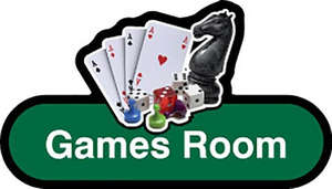 Games Room Sign inGreen