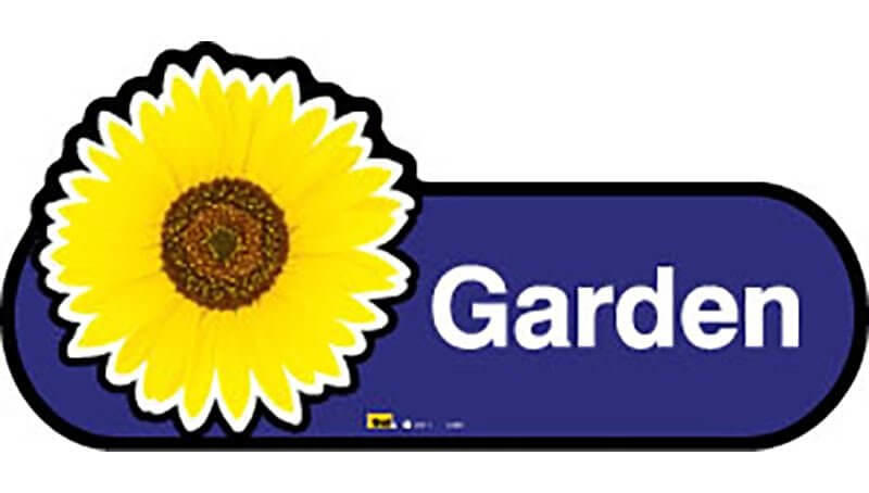 Garden Sign in Blue