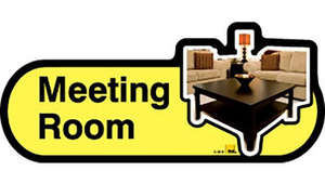 Meeting Room Sign inYellow