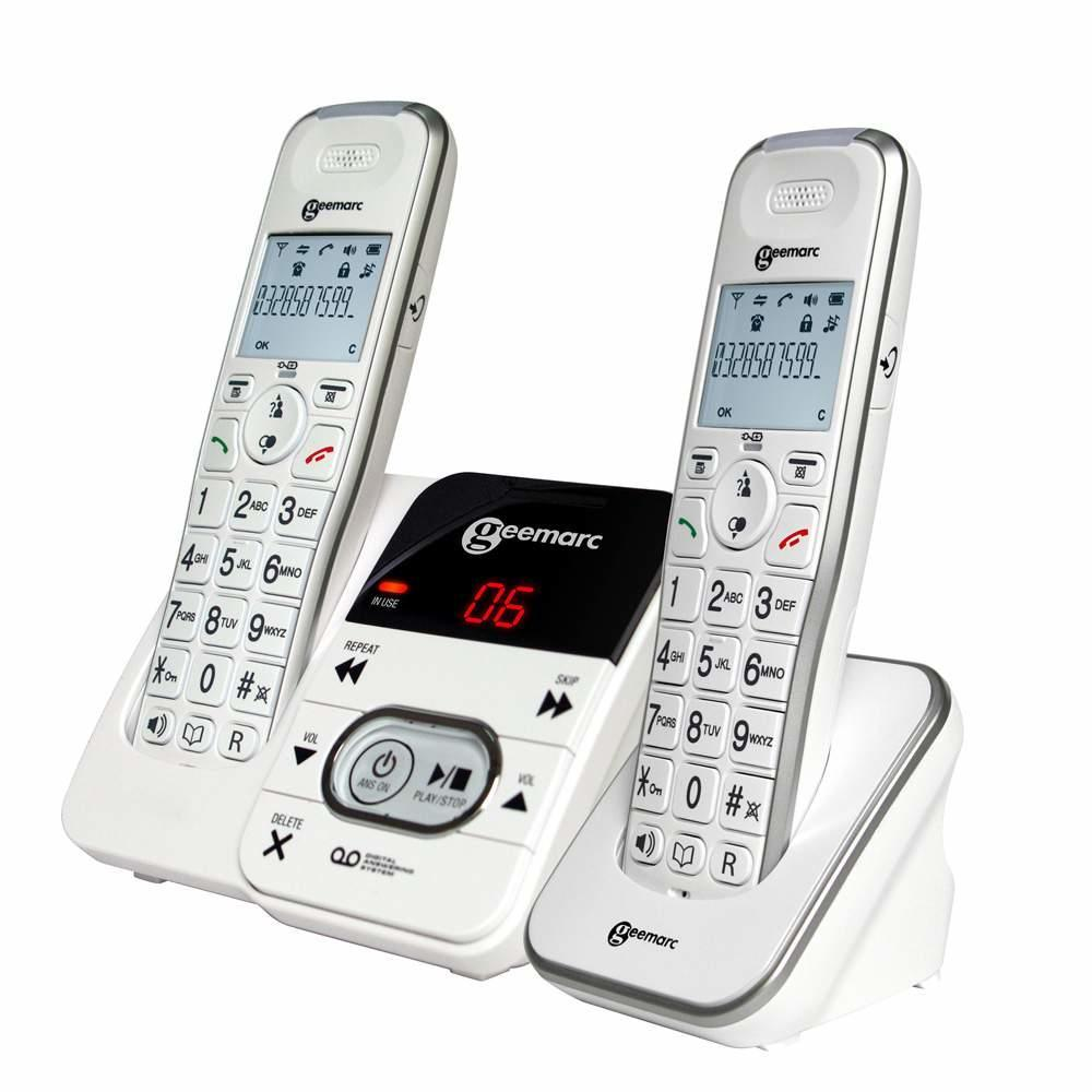 Geemarc AmpliDECT295 Cordless Telephone with Answering Machine - Duo