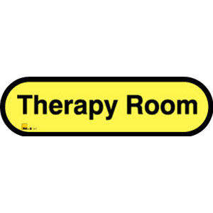 Therapy Room Sign inYellow