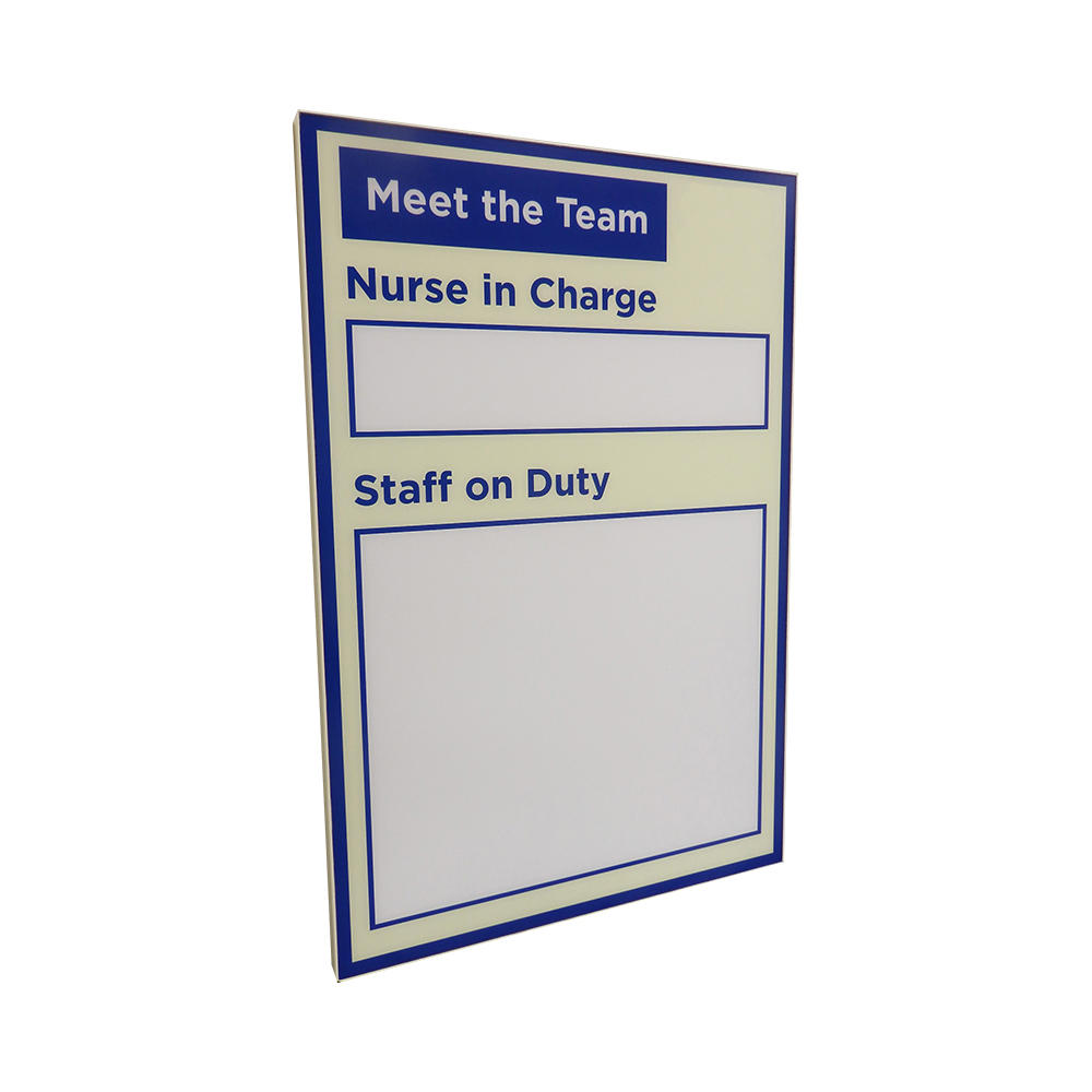 Staff on Duty Dry-Wipe Display Board