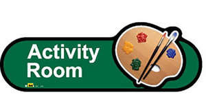 Activity Room Sign in Green