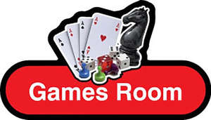 Games Room Sign inRed
