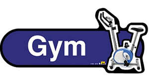 Gym Sign inBlue