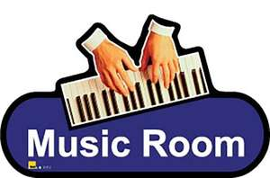 Music Room Sign inBlue