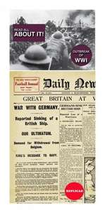 World War 1 Replica Newspaper