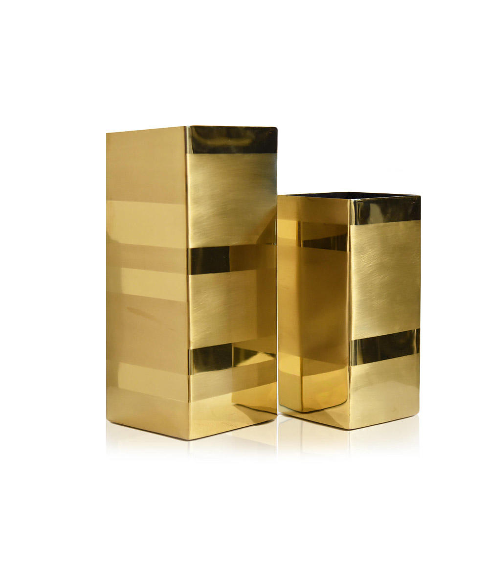 brass, vase, luxury, luxury accessories, aura, aura london