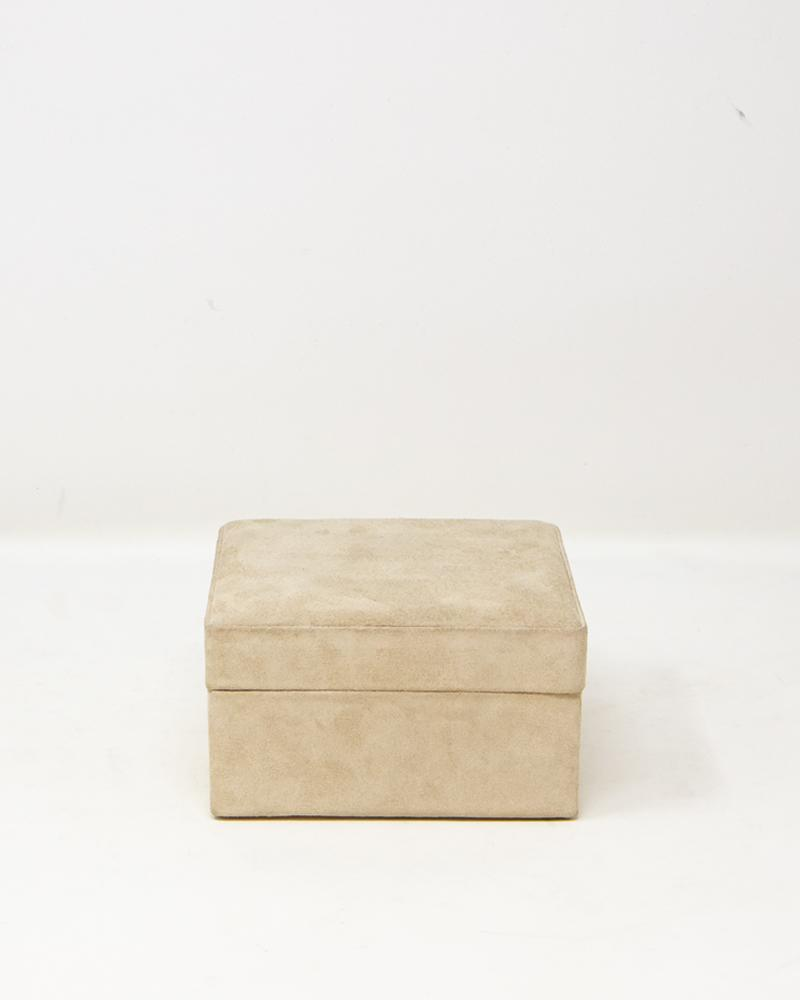 box, cream, suede,luxury, accessories, aura, aura london
