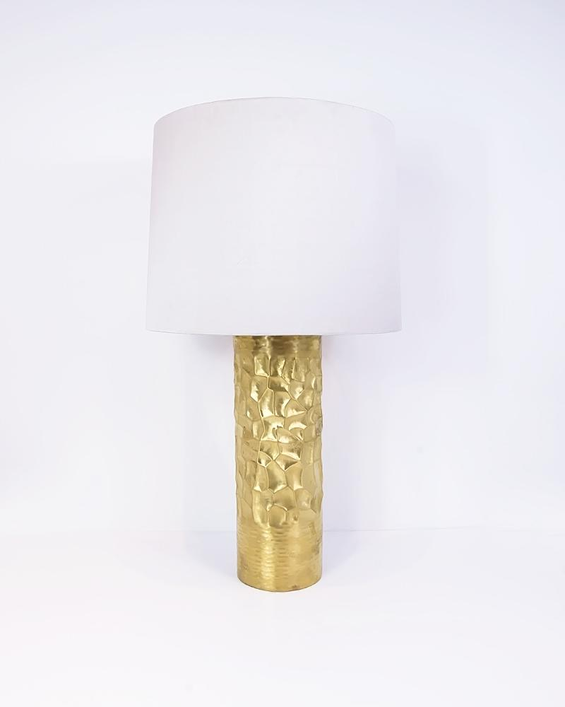 luxor, lamp, light, lighting, gold, brass, matte, cream, accessories, luxury, aura, london