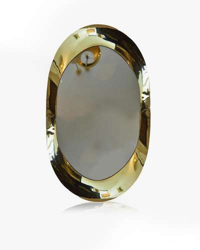 mirror, decor, brass, gold