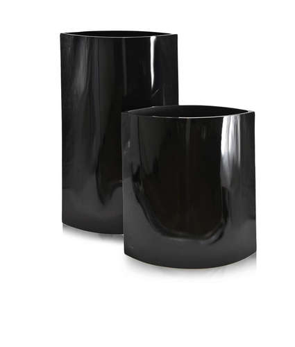 lacquer, black, vase, luxury accessories, aura london