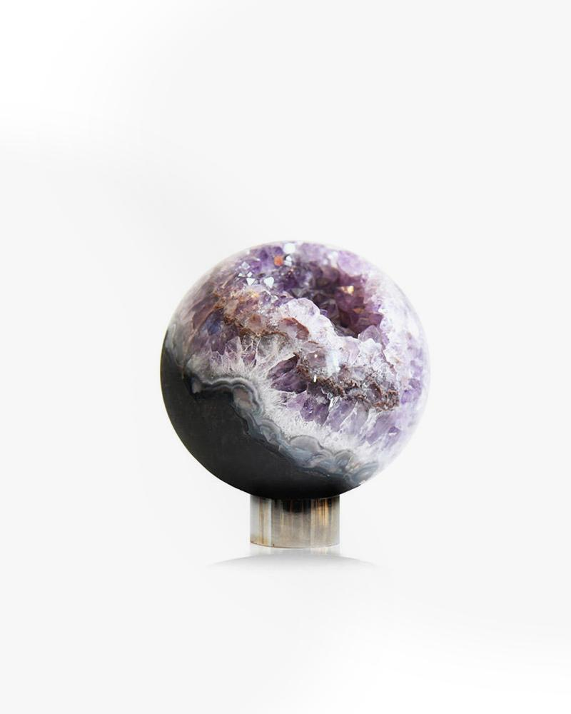 purple, amethyst, sphere, decor, aura, luxury