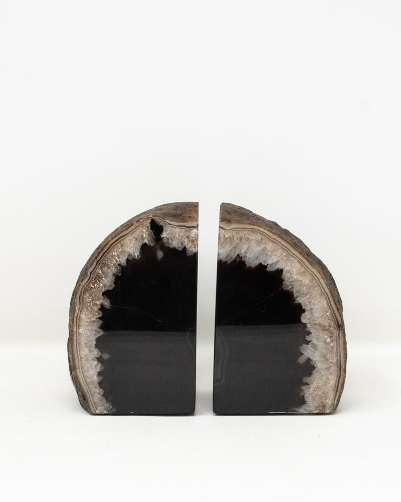 black, bookend, agate, crystal, mineral, luxury accessories, aura london