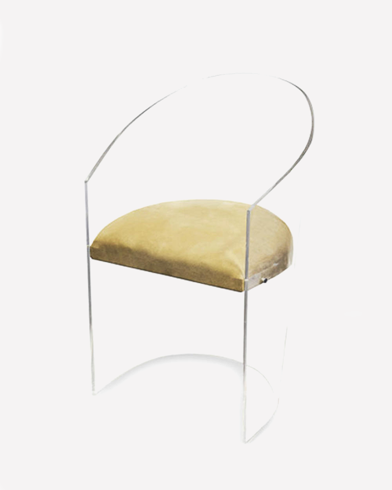 perspex, acrylic, seating, chair, dining chair, aura, luxury