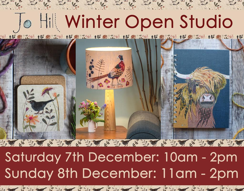 Press Release: Textile designer Jo Hill to open studio doors this December