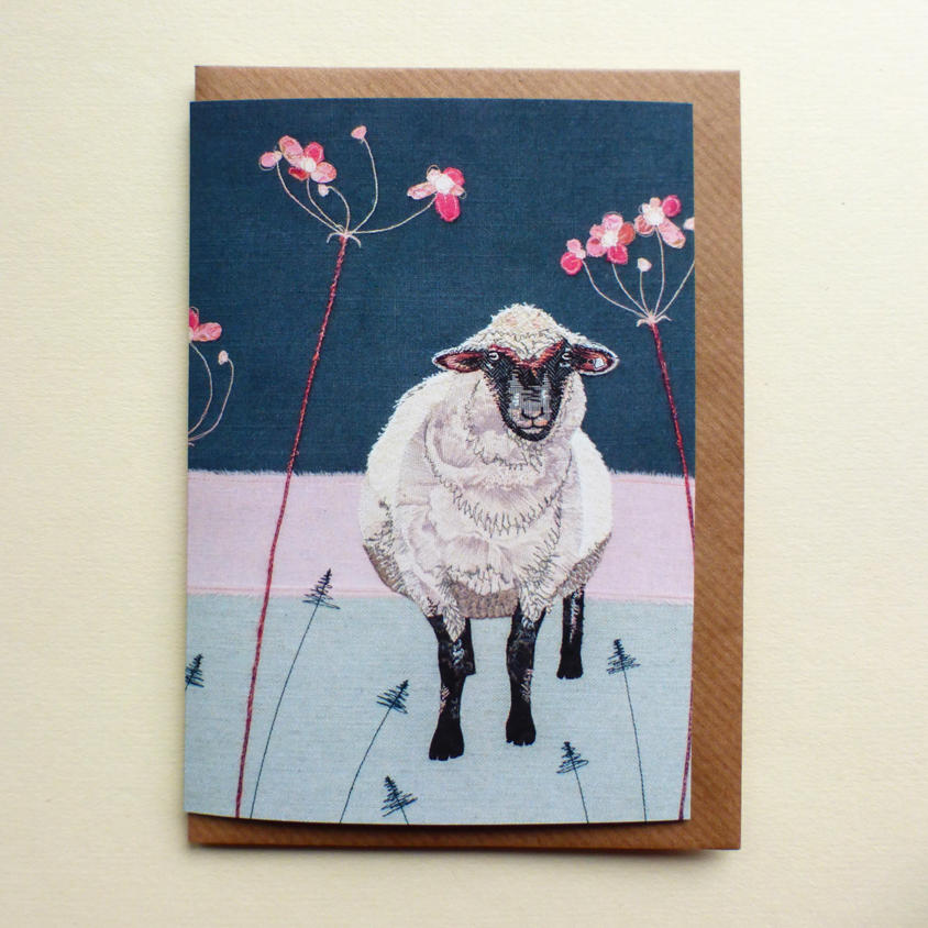 winter sheep greetings card by Jo Hill