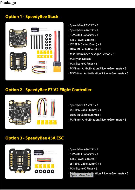 SpeedyBee Stack F7 V2 FC 45A 4in1 ESC_