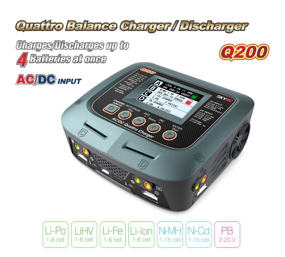 SkyRc Q200 Quattro 4 port charger